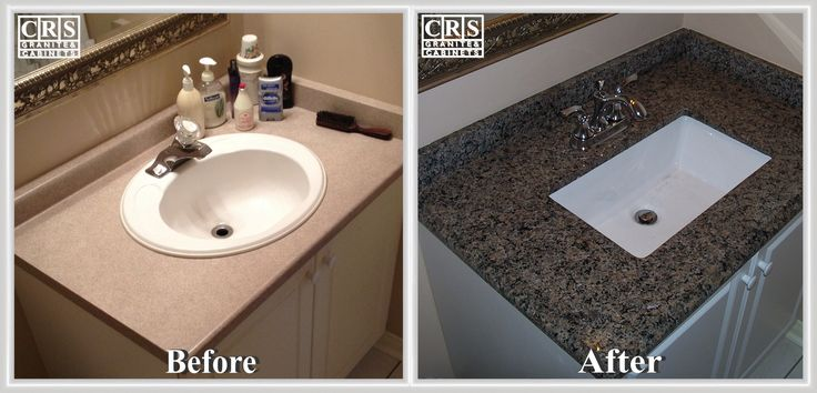 Here we see a simple project producing major improvement. This is a bathroom sink and countertop installation using the New Caledonia granite.  Call us at 1-877-648-7997, e-mail us at design@crsremodeling.ca.  Give your home a Dream Renovation with CRS!   #granite #countertop #cabinets #backsplash #flooring #hamilton #interiordesign #interiordecor #faucet #sink #fixtures #bathroom #renovations #remodel #ancaster #binbrook #brantford #oakville #stoneycreek #portdover #london