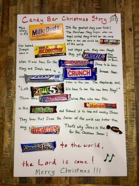 Candy Bar Christmas Story Christmas Decoration Idea Or