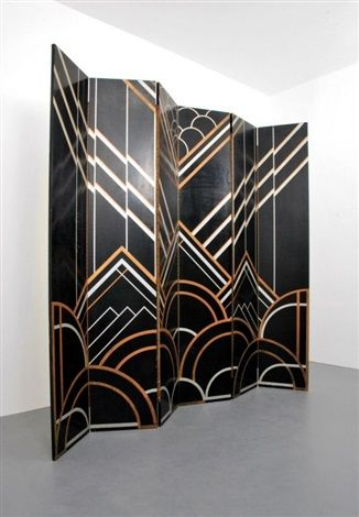 Architecture Collection In Art Deco Room Divider With Six Panel