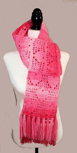 Heart scarf pattern