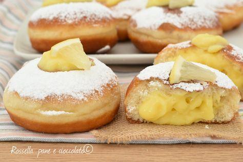 I BOMBOLONI alla CREMA di Limoni con 1 g di Lievito e senza impasto sono sofficissimi e profumati e la ricetta riesce a tutti