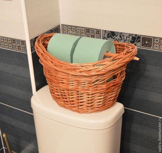 """Ванная комната ручной работы. Ярмарка Мастеров - ручная работа. Купить Корзина - держатель для туалетной бумаги """"Утро начинается не с кофе.... Handmade."""