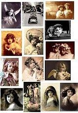Papier - Vintage nažehlovacie obrázky 4 - 1911902