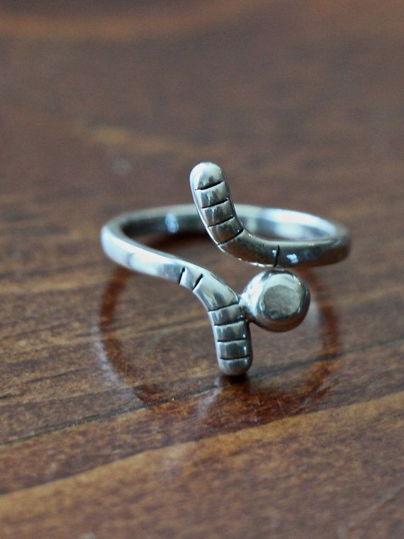 This sterling silver hockey ring is the perfect hockey jewelry gift for yourself, hockey player, hockey coach or hockey mom.    Hockey ring