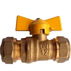 Dincorsa | Válvulas PE AL PE | Válvulas de cierre tipo bola para tuberías multicapas y conexiones PE AL PE.Cuerpo de latón con extremos roscados - Usualmente utilizadas en instalaciones internas domiciliarias de gas natural.