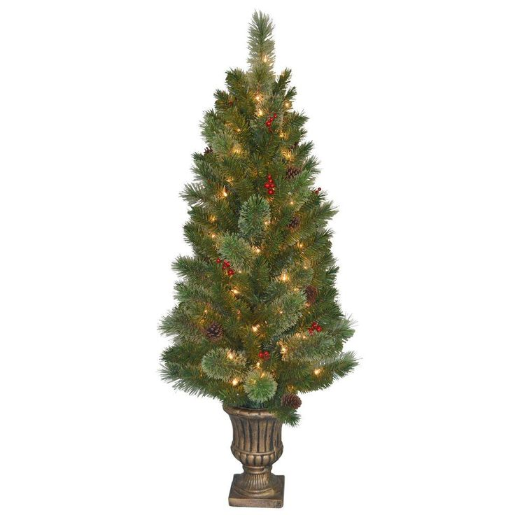 National Tree Company 4 5 Ft Cashmere Cone And Berry