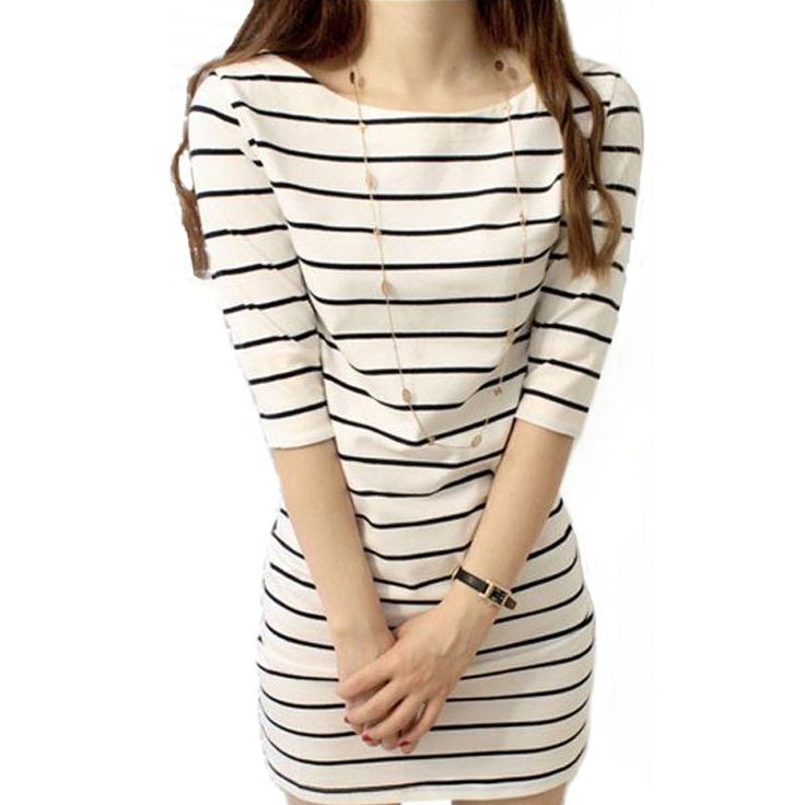 Free shipping ! Hot 2016 new brand women ! High quality large size striped dress / S / M / L / XL-in Dresses from Women's Clothing & Accessories on Aliexpress.com | Alibaba Group