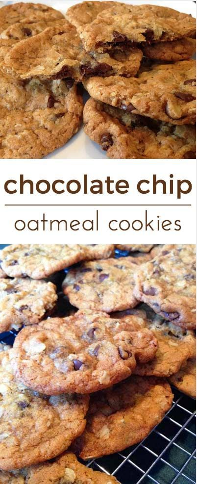 These Chocolate Chip Oatmeal Cookies are fabulous. Butter, flour ...