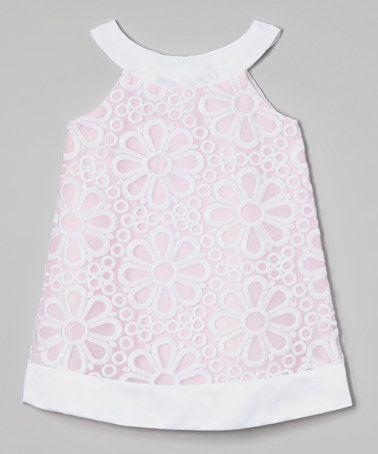 Look what I found on #zulily! Pink Daisy Yoke Dress - Girls by Sweet Kids #zulilyfinds