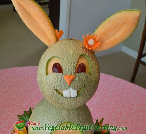 Best easter fruit and vegetable carvings images on