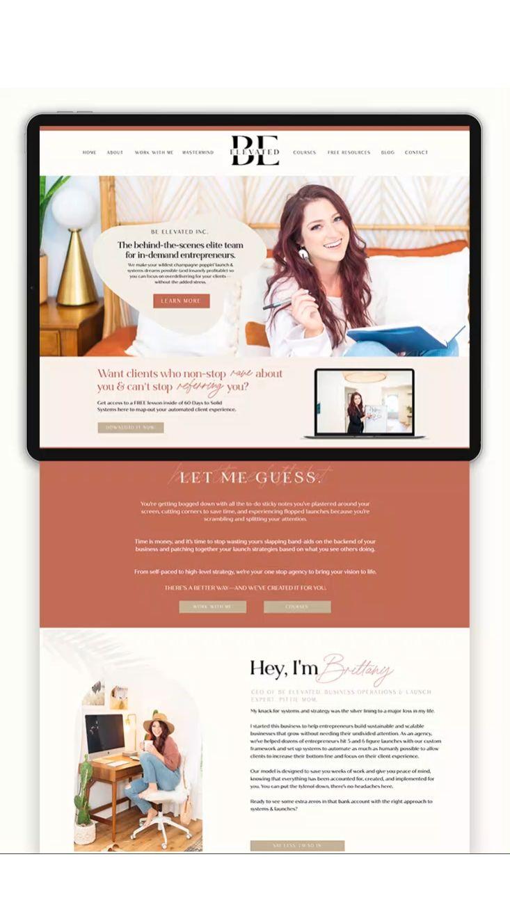 Showit website: modern website design