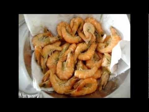 Receita Camarão Frito de Praia - YouTube