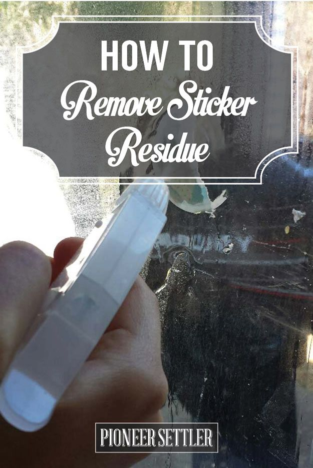 How to Remove Sticker Residue | Homestead Tips and Tricks by Pioneer Settler at http://pioneersettler.com/how-to-remove-sticker-residue/