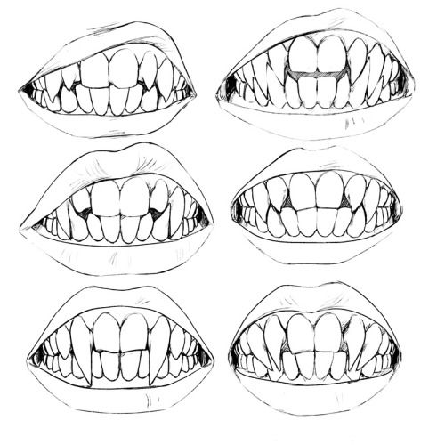 "uzlolzu: ""This is very old but I found it again and I still like it. Amazing. All my vampires have their own set of pointy teeth óuò. My babies. """