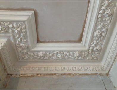 Ornate Victorian Tile plaster cornice