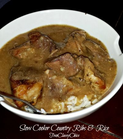 slow cooker country style ribs http://twoclassychics.com/2014/05/slow-cooker-country-style-ribs-recipe/