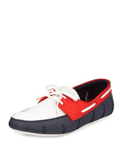 Swims+Multicolor+Water+Resistant+Rubber+Loafers+Blue+White+Red+|+Shoes+and+Footwear