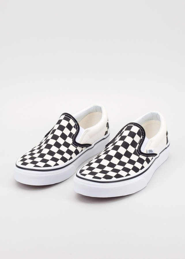 checkered youth vans