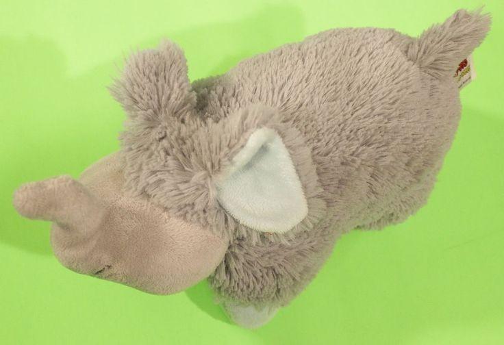 Elephant Pillow Pets Plush Stuffed Animal Toy Gray Sleep Pee Wees #PillowPets #Sleeping