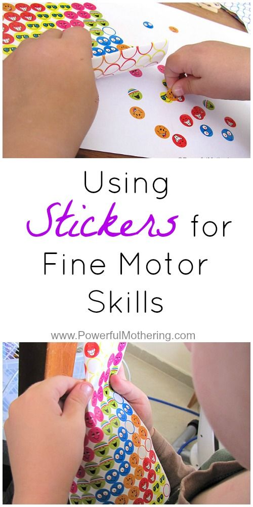 Stickers are a great medium to use for fine motor activities as well a great many other things. (Includes a tip on how to make removing stickers off the paper for toddlers!) from PowerfulMothering.com