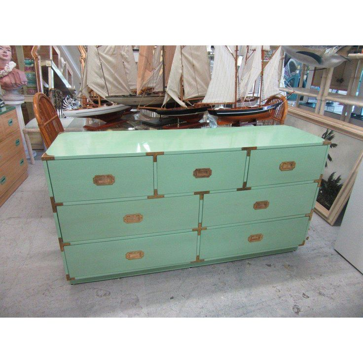 Jade Green Campaign Dresser - Image 3 of 9