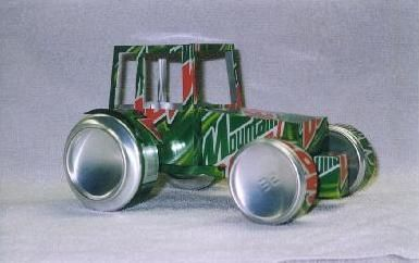 Tesscar Aluminum Craft -- Recycle your favorite beverage can into a work of art!