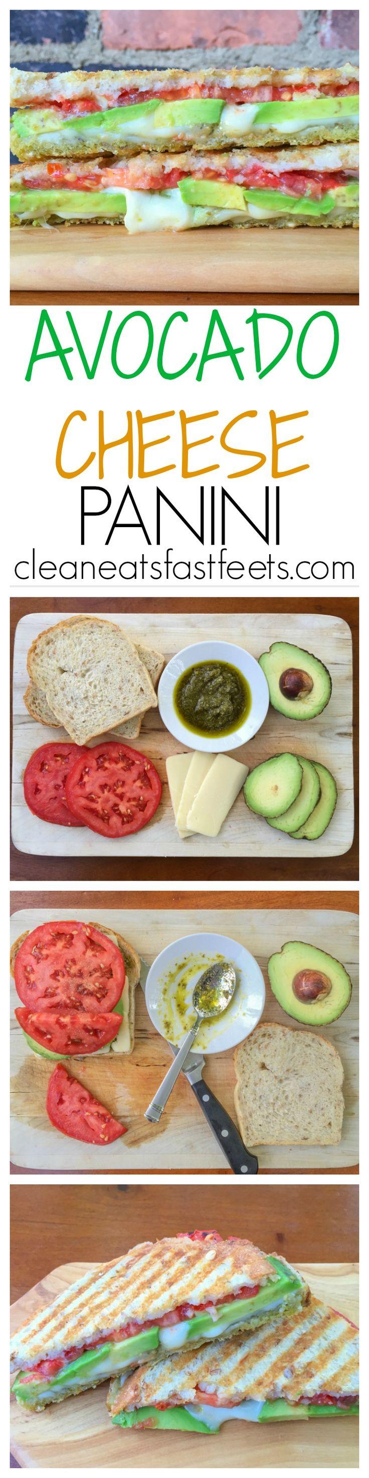 Avocado Cheese Panini - the sandwich which combines creamy avocado, sun-ripened tomatoes, mozzarella cheese, and pesto.