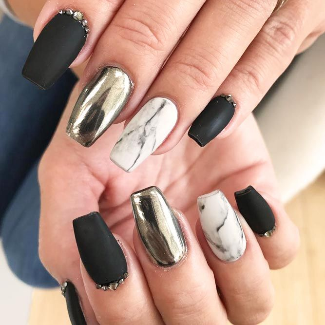 The 25 best black nails ideas on pinterest black nail matte 21 edgy ideas for matte black nails to break the manicure monotony prinsesfo Gallery