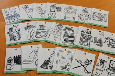 Chore chart picture cards. Really cute and thorough ways to help for littles. Free download.
