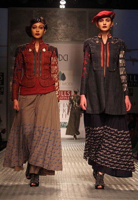 Anju Modi Autumn Winter 2013 at Wills Lifestyle India Fashion Week Delhi