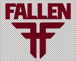 Fallen Footwear sticker - Red die-cut