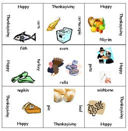 FREE K-2 Thanksgiving Magic Square Puzzle {great for teaching vocabulary - especially to ELLs!}