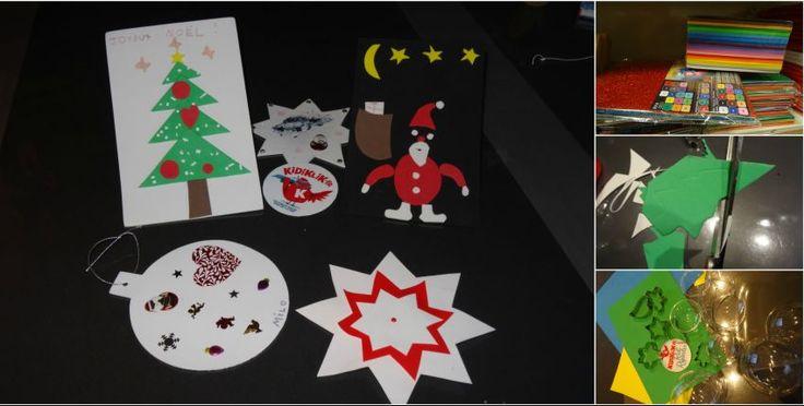 Les cartes de Noël en papier mousse !