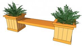 Planter Bench Plans | Free Outdoor Plans - DIY Shed, Wooden Playhouse, Bbq, Woodworking Projects