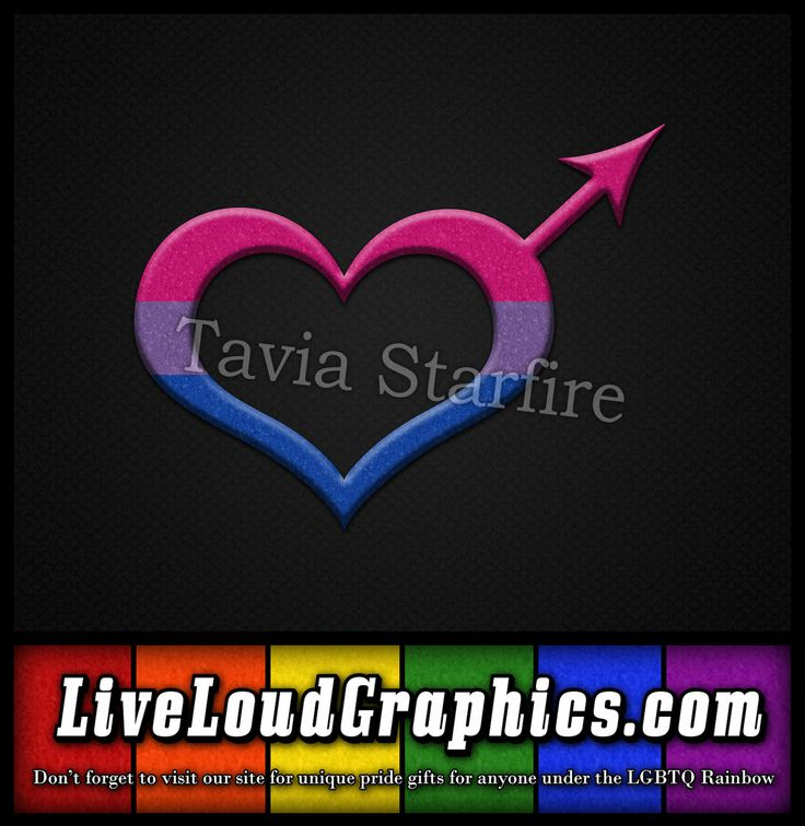 Bisexual pride heart shaped male gender symbol in matching pride flag colors. #Bisexual #liveloudgraphics