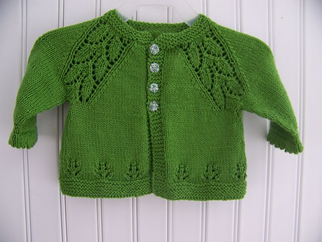 Knit Baby Cardigan free pattern: Craft Passions