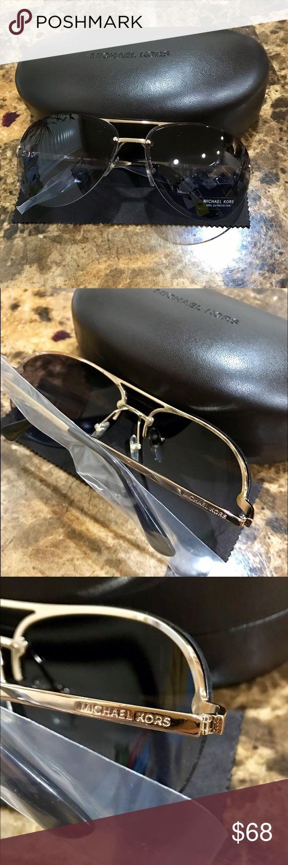 Michael Kors Aviator Sunglasses Brand New!! Comes with case and dust cloth , Michael Kors Aviator Sunglasses $100 Retail Michael Kors Accessories Sunglasses
