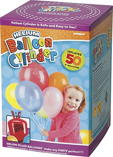 "Large Disposable Helium Canister to fill 50 x 9"" Helium Balloons"