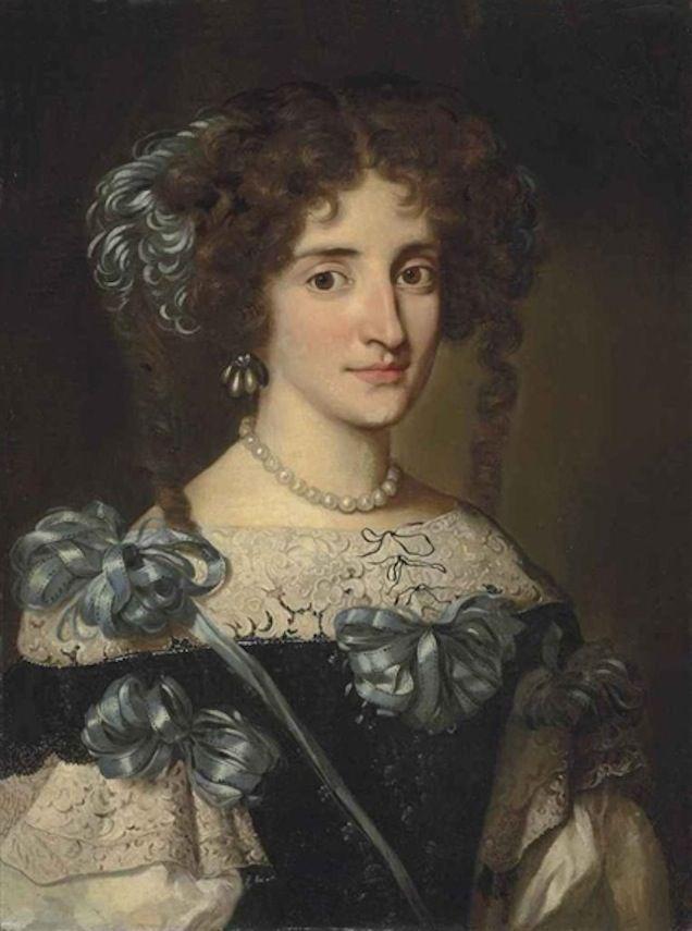 Jacob Ferdinand Voet (1639-1689) — Portrait of Maria Virginia Borghese Chigi (636×855)