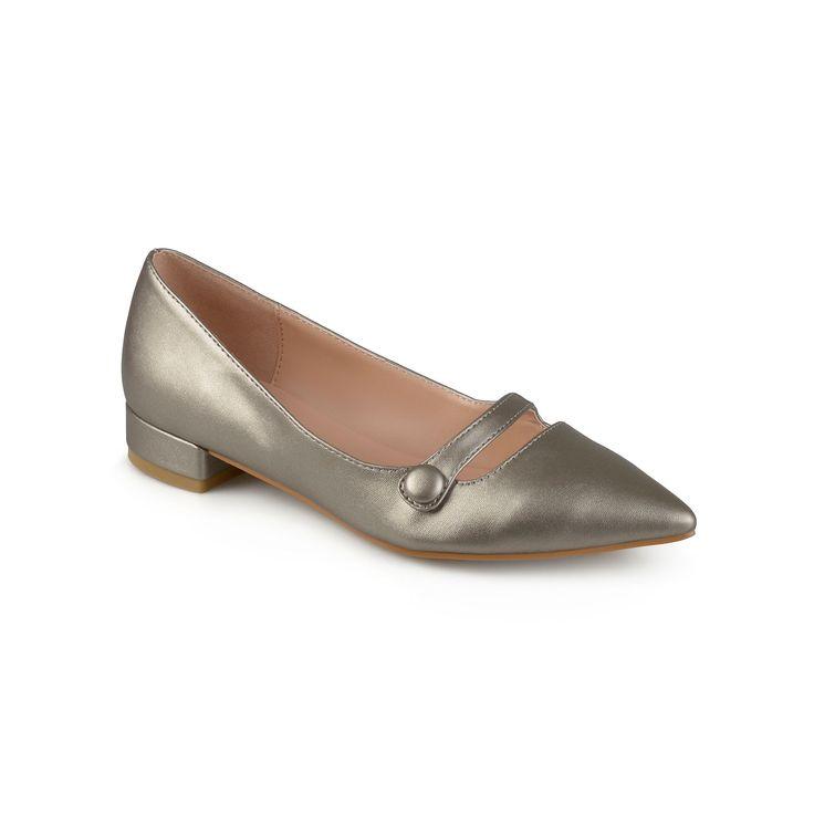 Journee Collection Vasha Women's Pointed Dress Shoes, Teens, Size: 8.5, Dark Grey