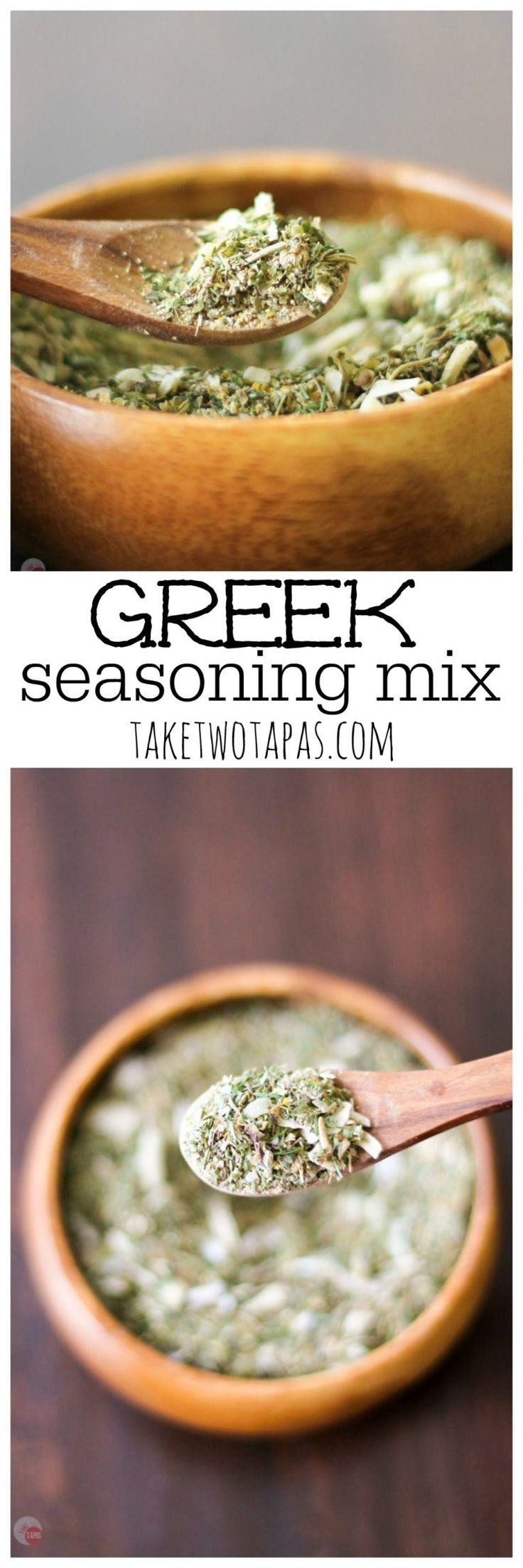 Want a new spice mix to dress up your chicken or steak? Try this Greek Seasoning Mix you can make at home! Greek Seasoning Mix Recipe | Take Two Tapas
