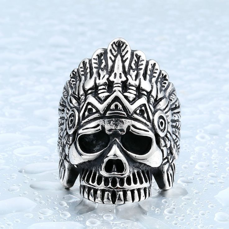 BEIER Aliexpress New Indiana Skull Ring Stainless Steel Punk Exaggerated Jewelry USA Fashion Men's Ring E-packet BR8-213