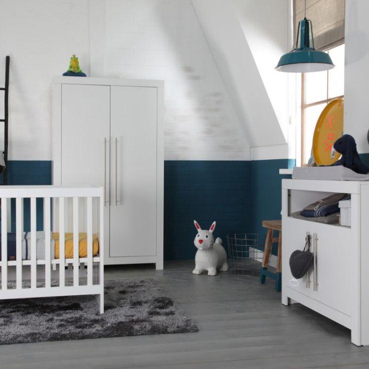 Babykamer grijs/blauw/geel