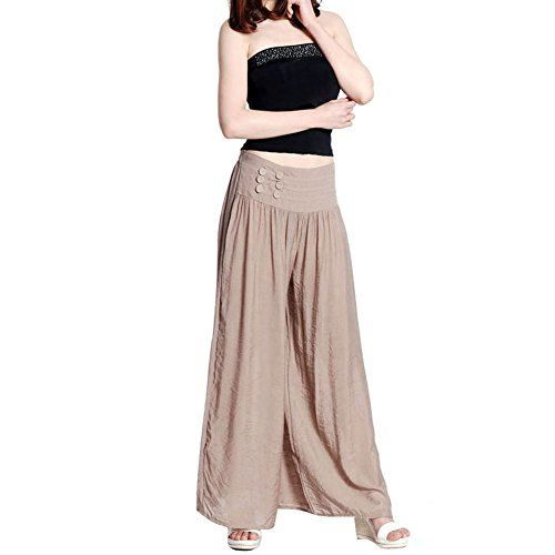 Etosell Womens Loose Long Culottes Elastic Waist Pants Wide Leg Pants Trousers. Shopswell | Shopping smarter together.™