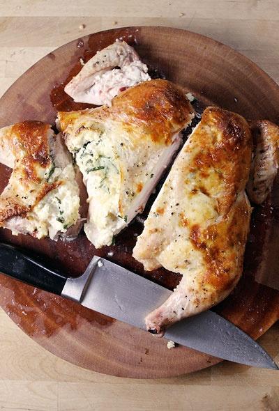 ricotta chicken: Spatchcock Ricotta, Stuffed Chicken, Yummy Food ...