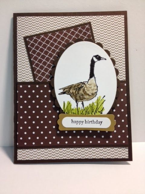 Wetlands Masculine Birthday Card Stampin' Up! Rubber Stamping Handmade Cards Masculine Cards