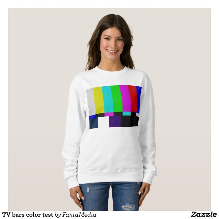 TV bars color test Sweatshirt - Fashionable Women's Sweatshirts By Creative Talented Graphic Designers - #sweatshirt #pullover #fashion #apparel #clothes #clothing #design #designer #fashiondesigner #style #trends #bargain #sale #shopping - Enjoy any outdoor activity in the warm comfort of this classic crewneck sweatshirt - It's not only plush but durable in its construction - A must have in any wardrobe - Find many design and customization options for this TV bars color test Sweatshirt to