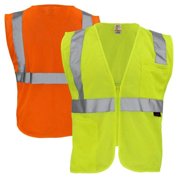 Gss safety class 2 hi vis mesh safety vest safety vest