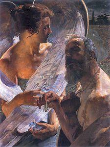 Jacek Malczewski - Zmartwychwstanie (Nieśmiertelność), 1900