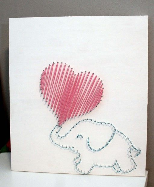 Nursery Elephant String Art